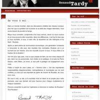 Renaud Tardy lance son site web.