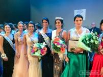 Lors de l'élection, la gagnante Maeva BALAN (Miss International France 2017) avec les Miss Roubaix, sur la scène du théatre Pierre de Roubaix