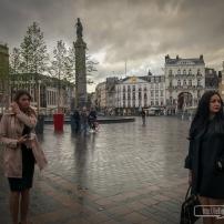 Dans le Nord, il ne pleut pas toujours... mais ce jour-là oui ! Ici à Lille