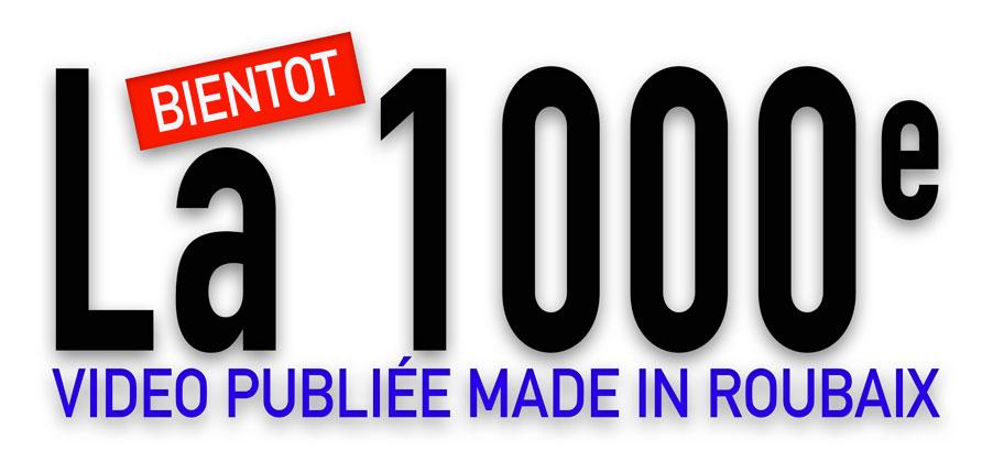 Ce lundi, c'est notre 1000e vidéo publiée !