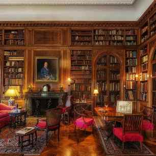 john-work-garrett-library-baltimore-maryland-books-inside-interior-rich-luxurious-hdr